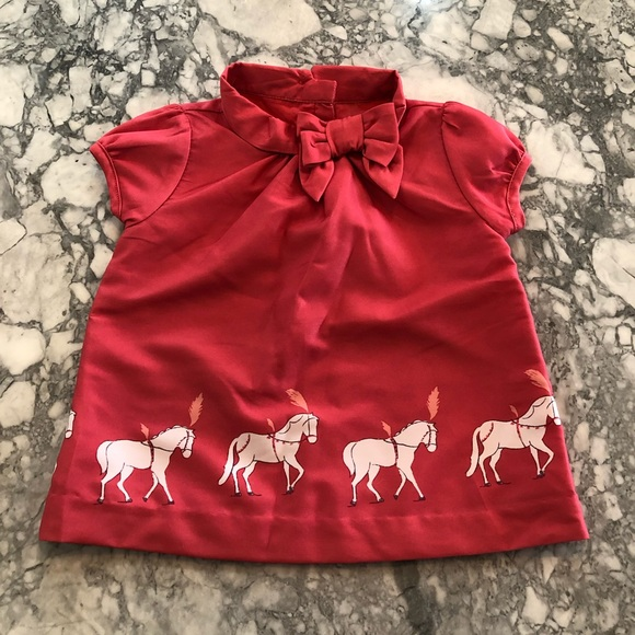 404a5564a Janie and Jack Shirts & Tops | Carousel Horse Top With Bow | Poshmark